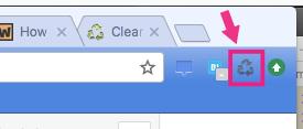 キャッシュを削除するためのChrome Extension