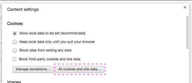 Chromeのクッキー削除と管理機能