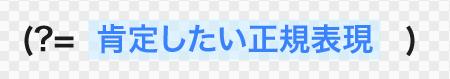 肯定先読みの記述法